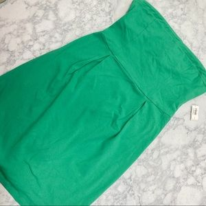 NWT Dreamy Green Strapless Jersey Dress Old Navy